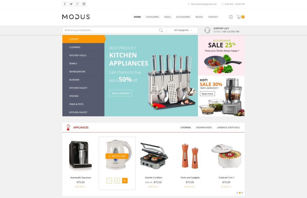 лучшие PSD макеты интернет магазинов для верстки 18