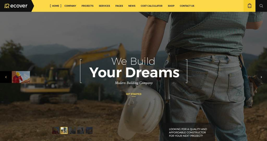 макет строительного сайта для серьезного бизнеса 02