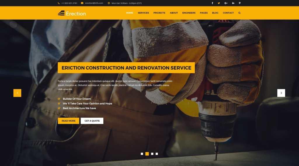 макет строительного сайта для серьезного бизнеса 17