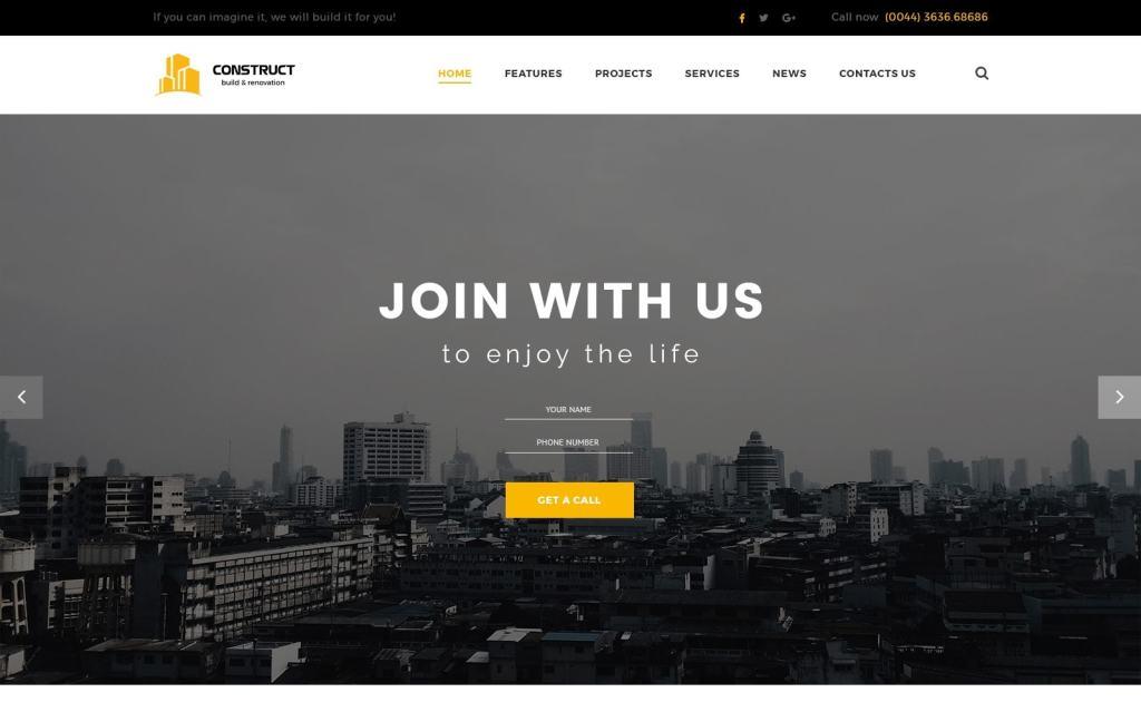 макет строительного сайта для серьезного бизнеса 20