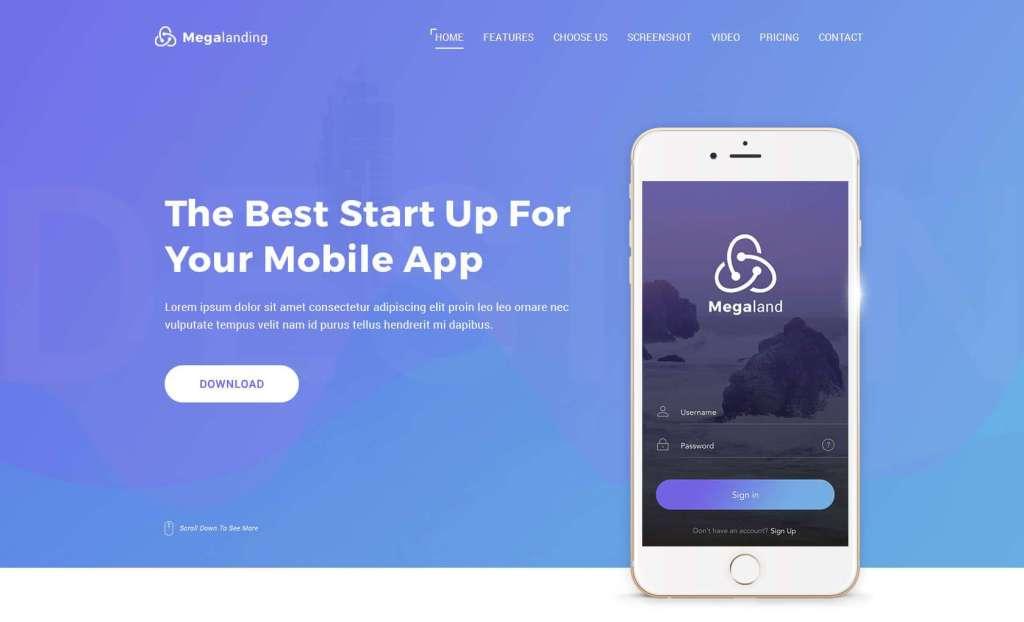 резиновый макет сайта: готовая концепция мобильного сайта 10