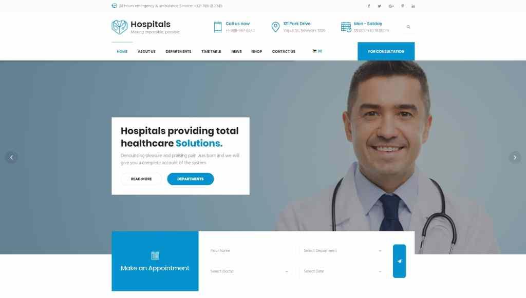 адаптивные шаблоны медицина HTML с онлайн-формой записи 04