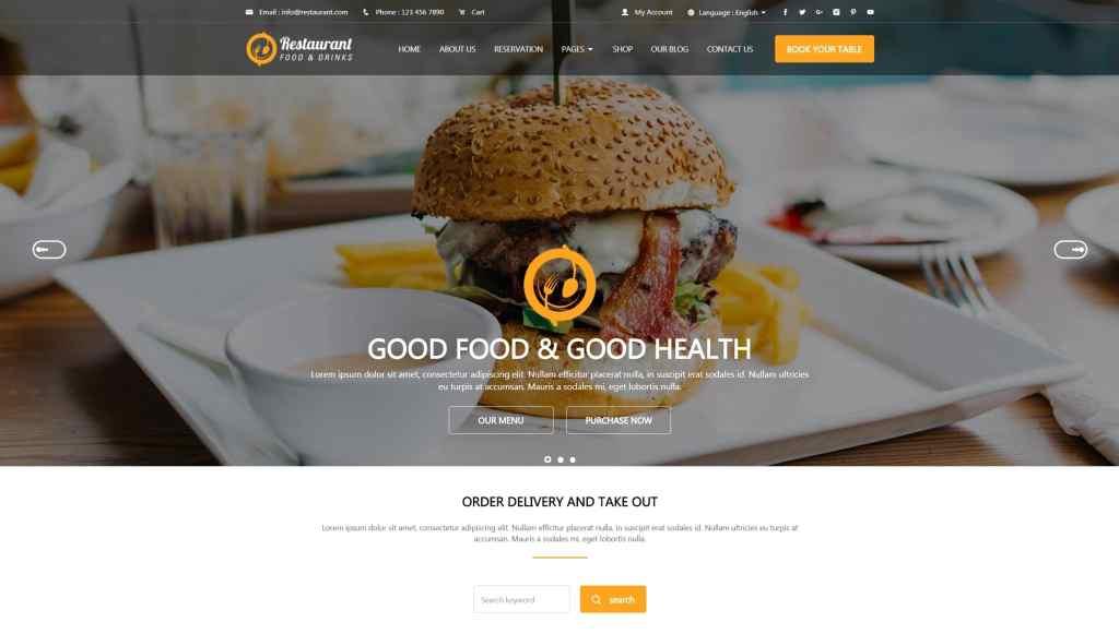 HTML шаблоны ресторан с онлайн-бронированием столиков 10