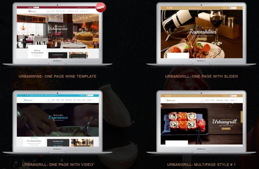 HTML шаблоны ресторан с онлайн-бронированием столиков 13
