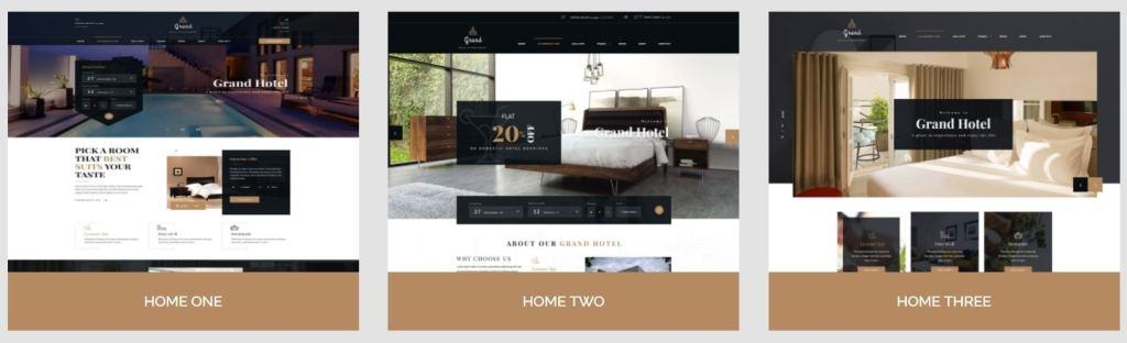 шаблон сайта гостиницы HTML с онлайн-поиском номеров 03