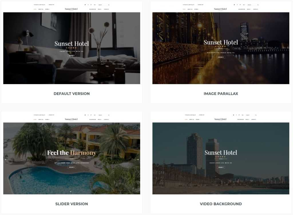 шаблон сайта гостиницы HTML с онлайн-поиском номеров 07