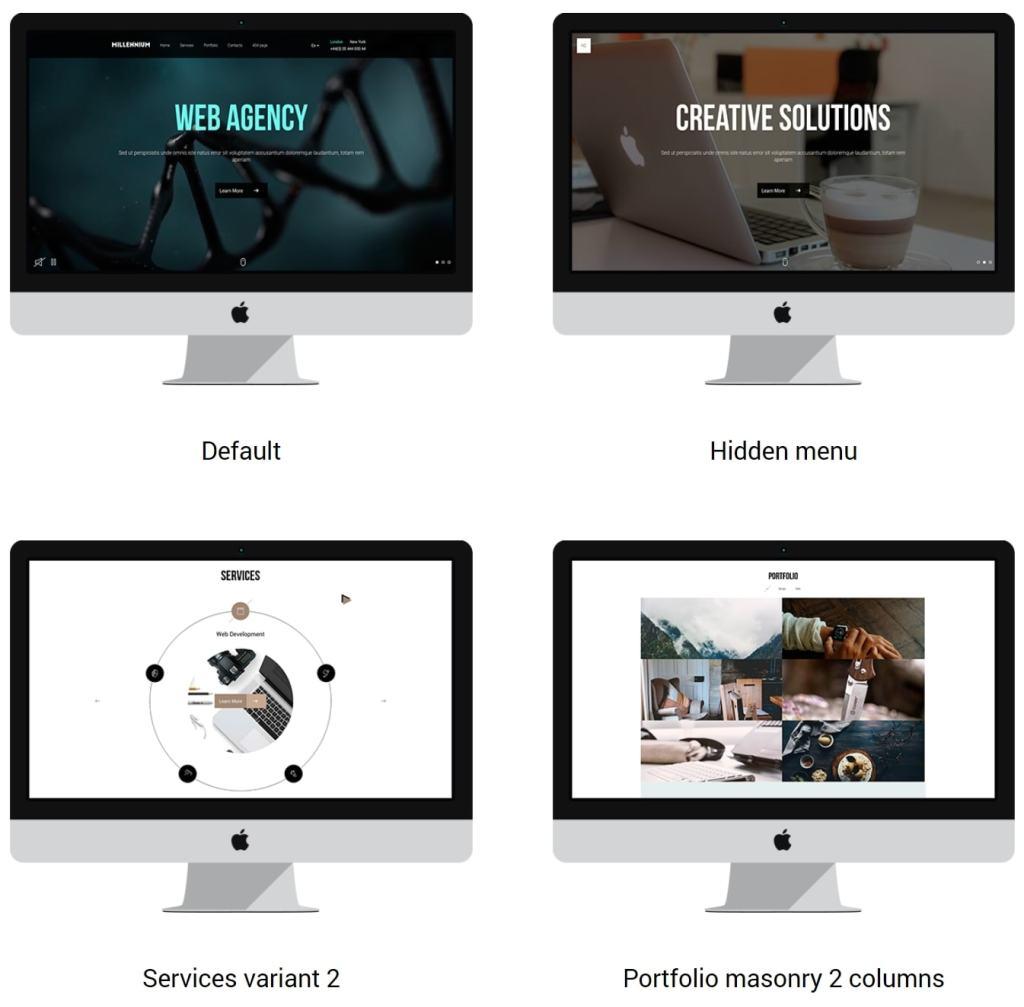 макеты сайтов HTML с возможностью разработки под любую платформу 18