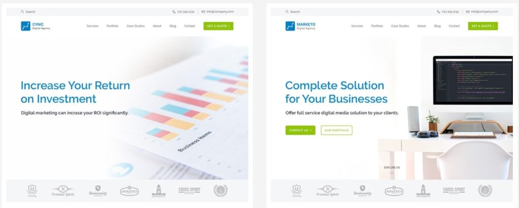 Топ 100 адаптивные HTML шаблоны для бизнеса, портфолио, блога и магазина 71