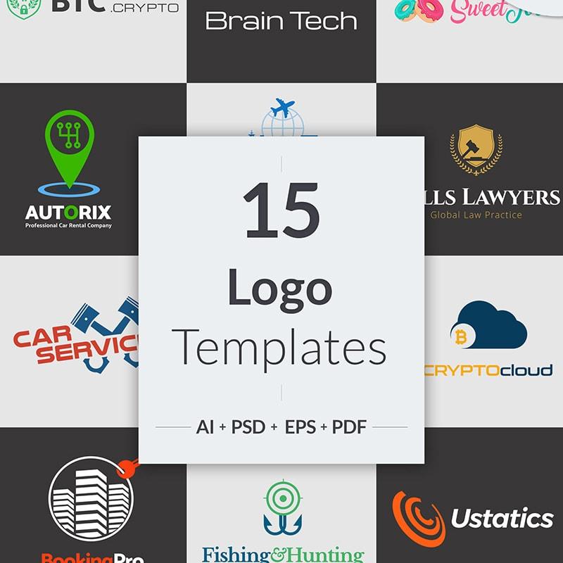 Бандл логотипов для бизнеса