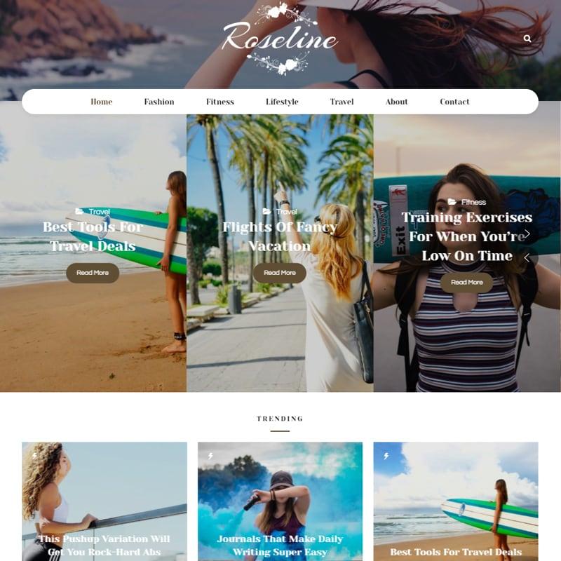 WordPress шаблон Roseline - Personal Blog