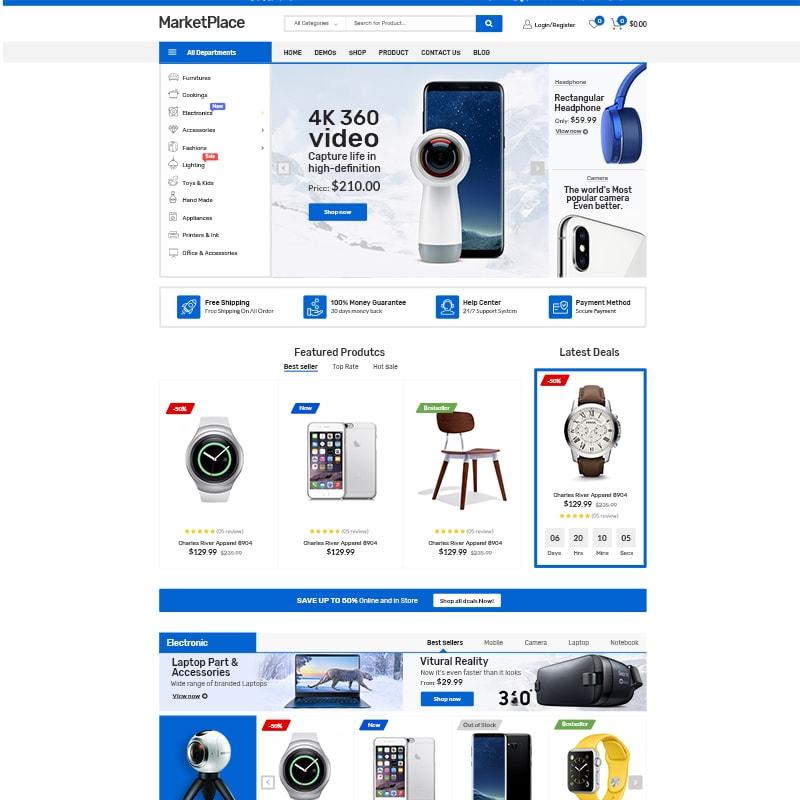 WooCommerce шаблон Market Place