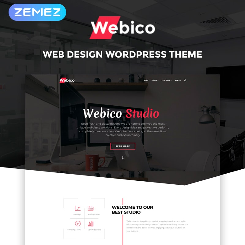 WordPress шаблон Webico - Web Design Elementor
