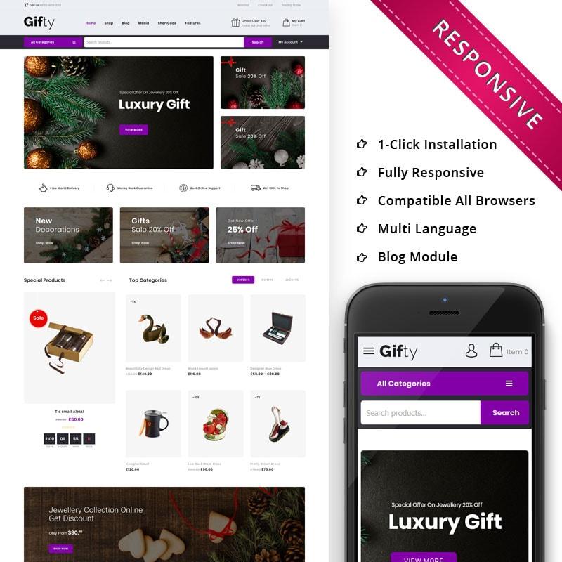 WooCommerce шаблон Gifty - The Gift Store Responsive