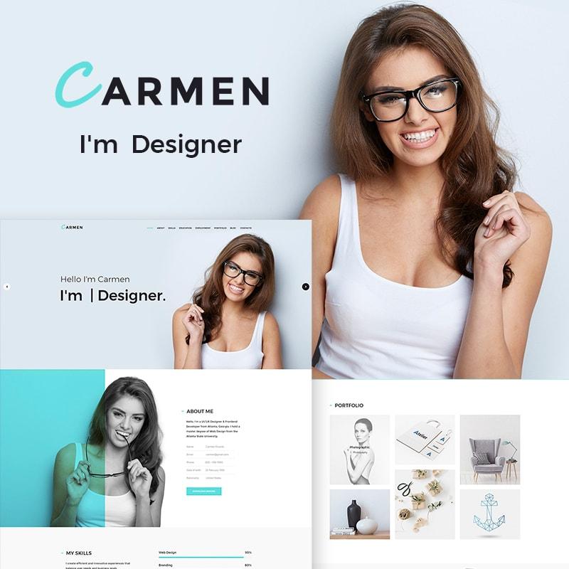 WordPress шаблон Carmen Design Portfolio