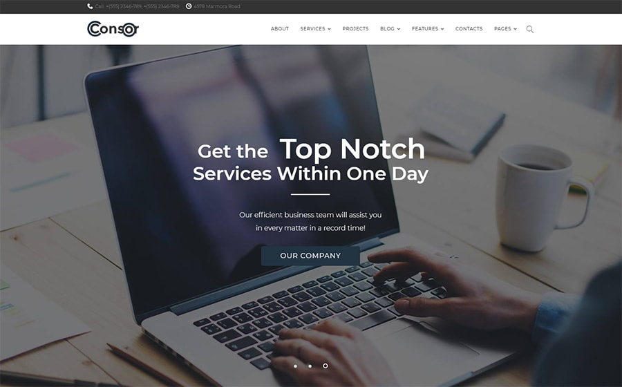 WordPress шаблон Consor - Business Consulting Elementor