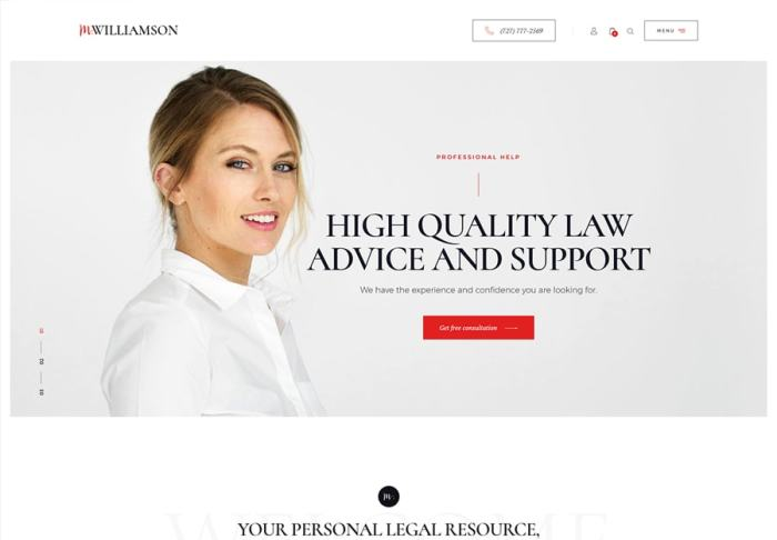 M.Williamson | Lawyers & Legal Adviser WordPress Theme