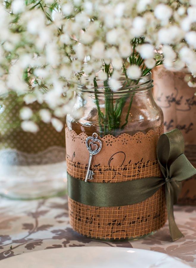 Vintage-Vase zur Hochzeit