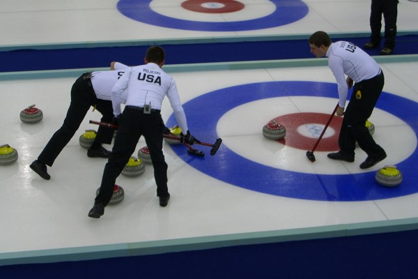 Photo of curling competition