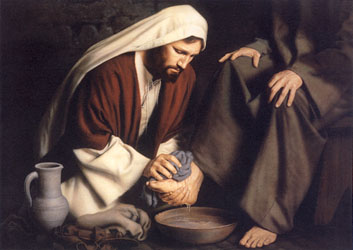 Jesus Washing the Disciple's Feet