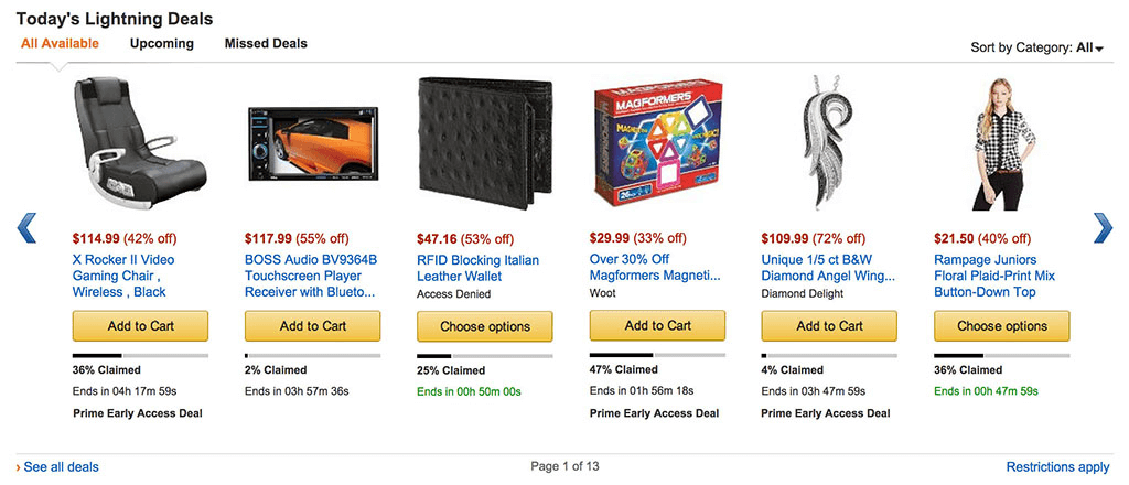 Amazon Daily Deals - Limited Time and Limited Quantity Offers