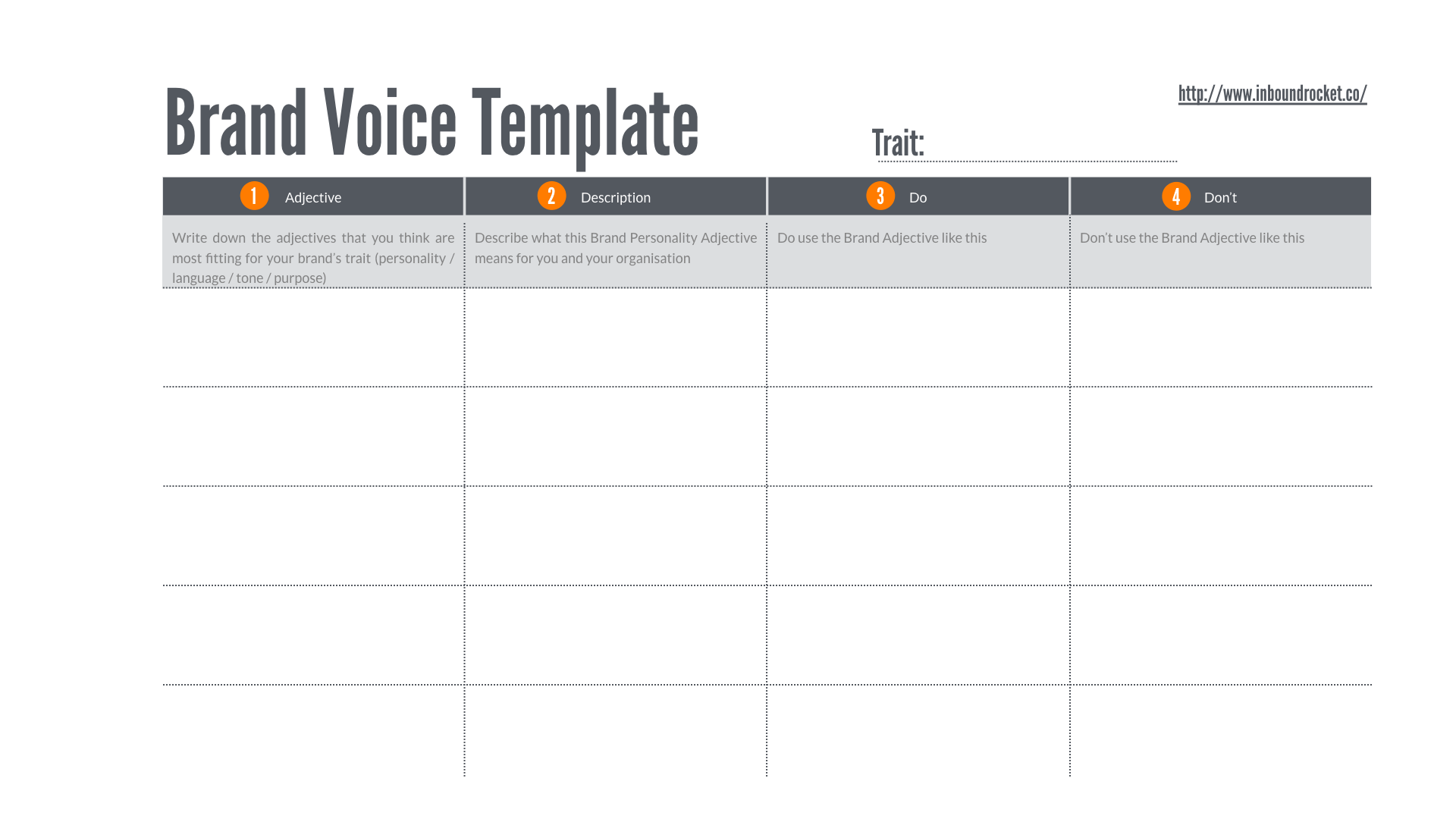 Brand Voice Template