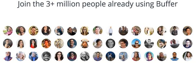 Three plus million users on Buffer