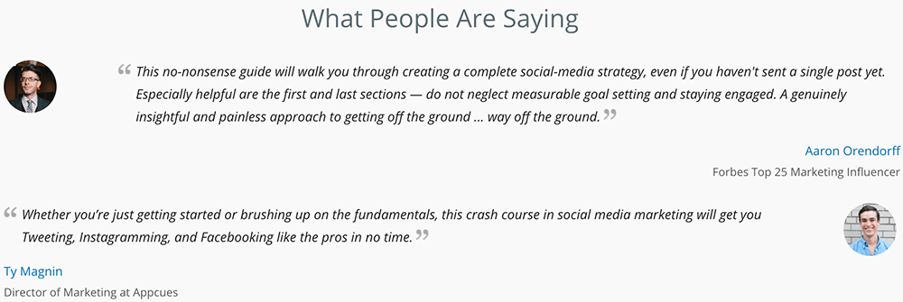 Examples of great social proof