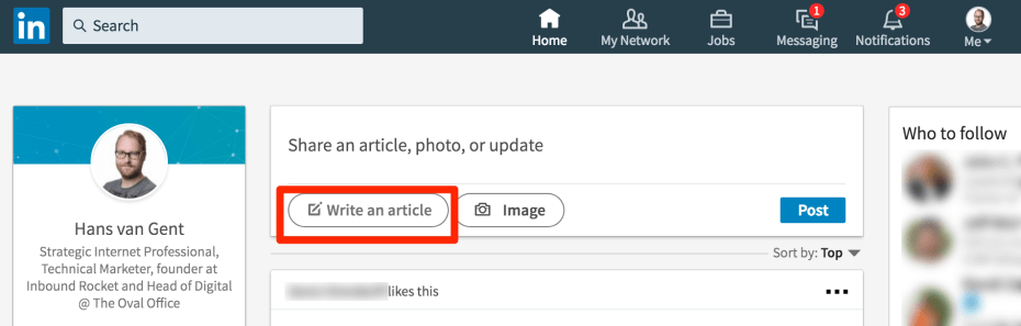 Writing an article on LinkedIn's Publishing Platform
