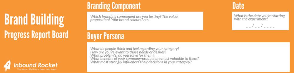 Brand Building Progress Report Board Step 1: Setting up the basics