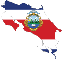 Costa-Rica-Map-Flag
