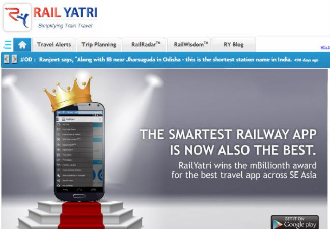 Blume Invests In Rail Yatri, A Crowd-Source Platform For Travel Related Services
