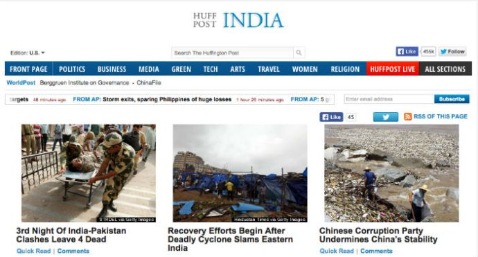 Times Internet Officially Launches Huffington Post-India Edition