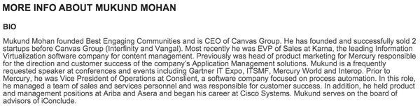 Bio on Eventful—Claims Sold 2 Companies Before Canvas Group (Interfinity & Vangal)