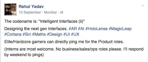 Rahul yadav new startup