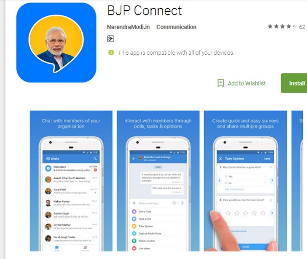 bjp connect-app-chat-technology
