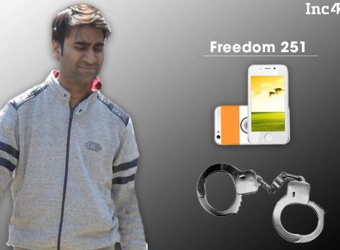 Delhi Police Arrests The Maker Of World's Cheapest Smartphone 'Freedom 251'
