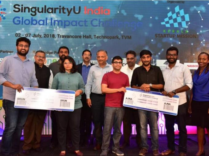 Kerala's Ajna And Delhi's Brun Health Ready To Fly To Singularity University After Winning GIC India Challenge 2018