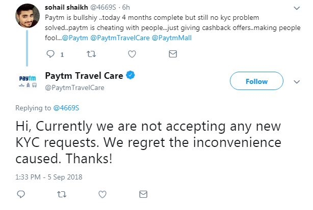 Paytm, PhonePe & FreeCharge Not Accepting Aadhaar For KYC, Users Outraged On Twitter