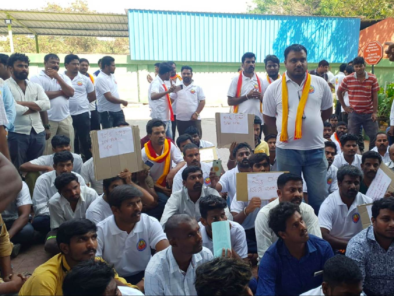 Breaking: Cab Drivers Stage Protest Outside Ola Office In Bengaluru