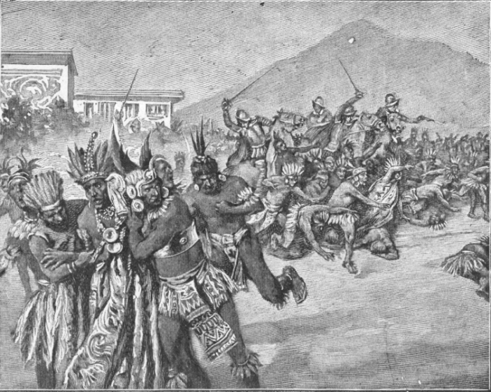 Image result for Inca Civil War and Spanish conquest