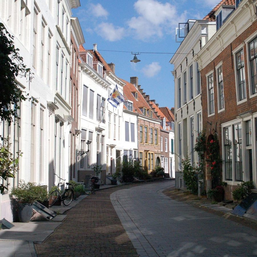 Huizen in de Nieuwstraat in Middelburg