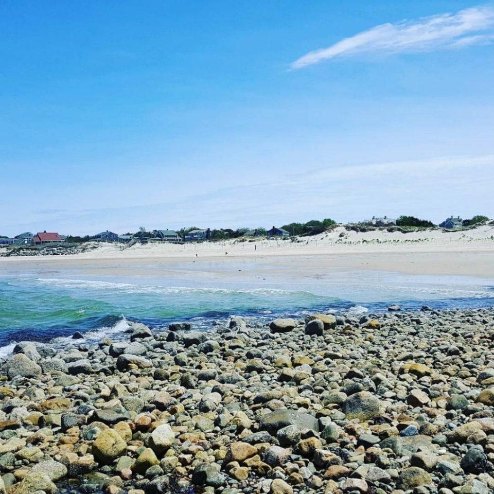 strand Cape Cod, kiezelstenen en zand
