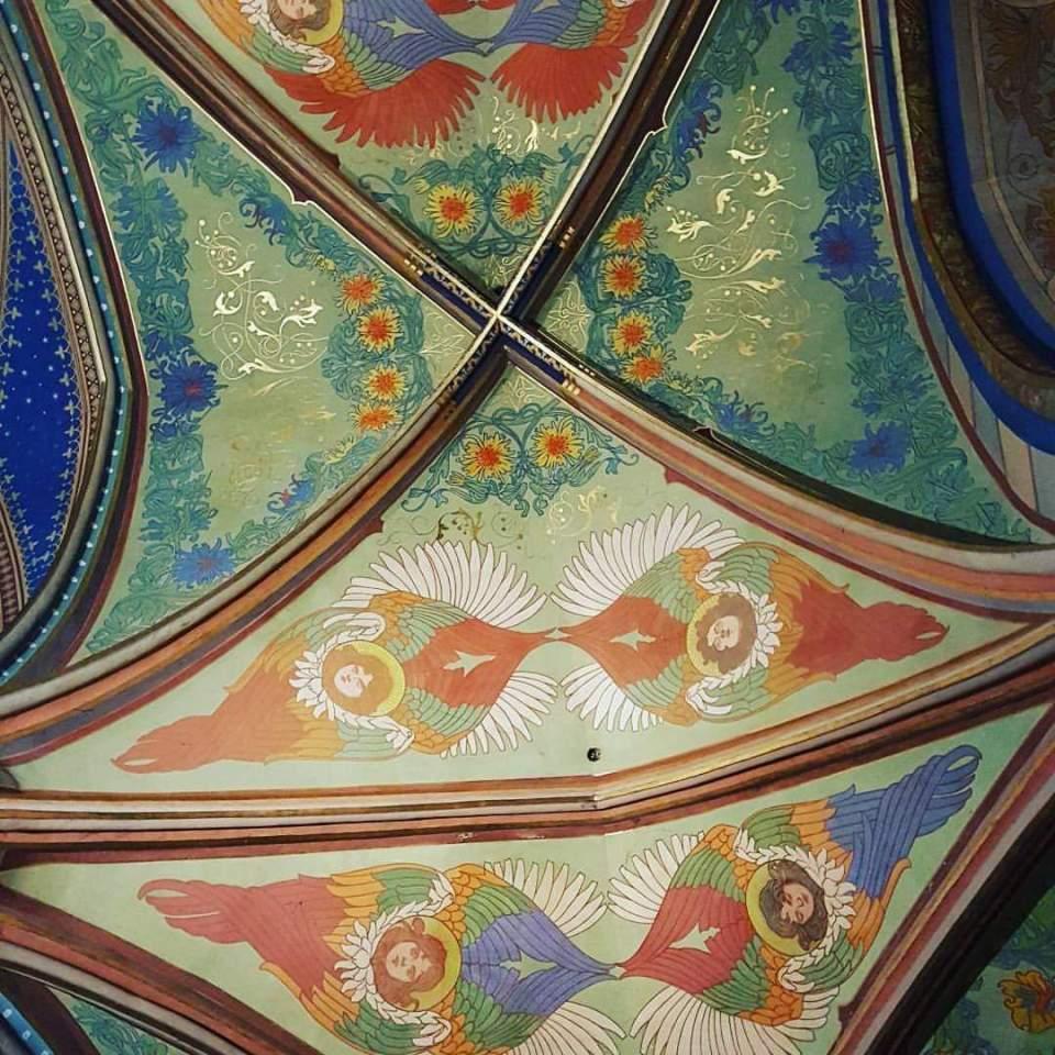 Interior of Vysehrad Cathedral Prague