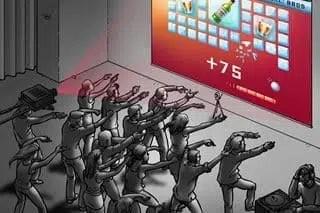 human joystick animation digitale