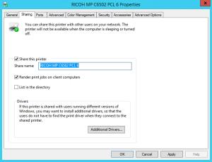 Sharing a Printer (Windows)