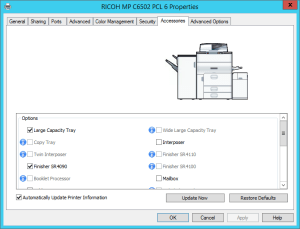 Update Ricoh Printer Accessories (Windows)
