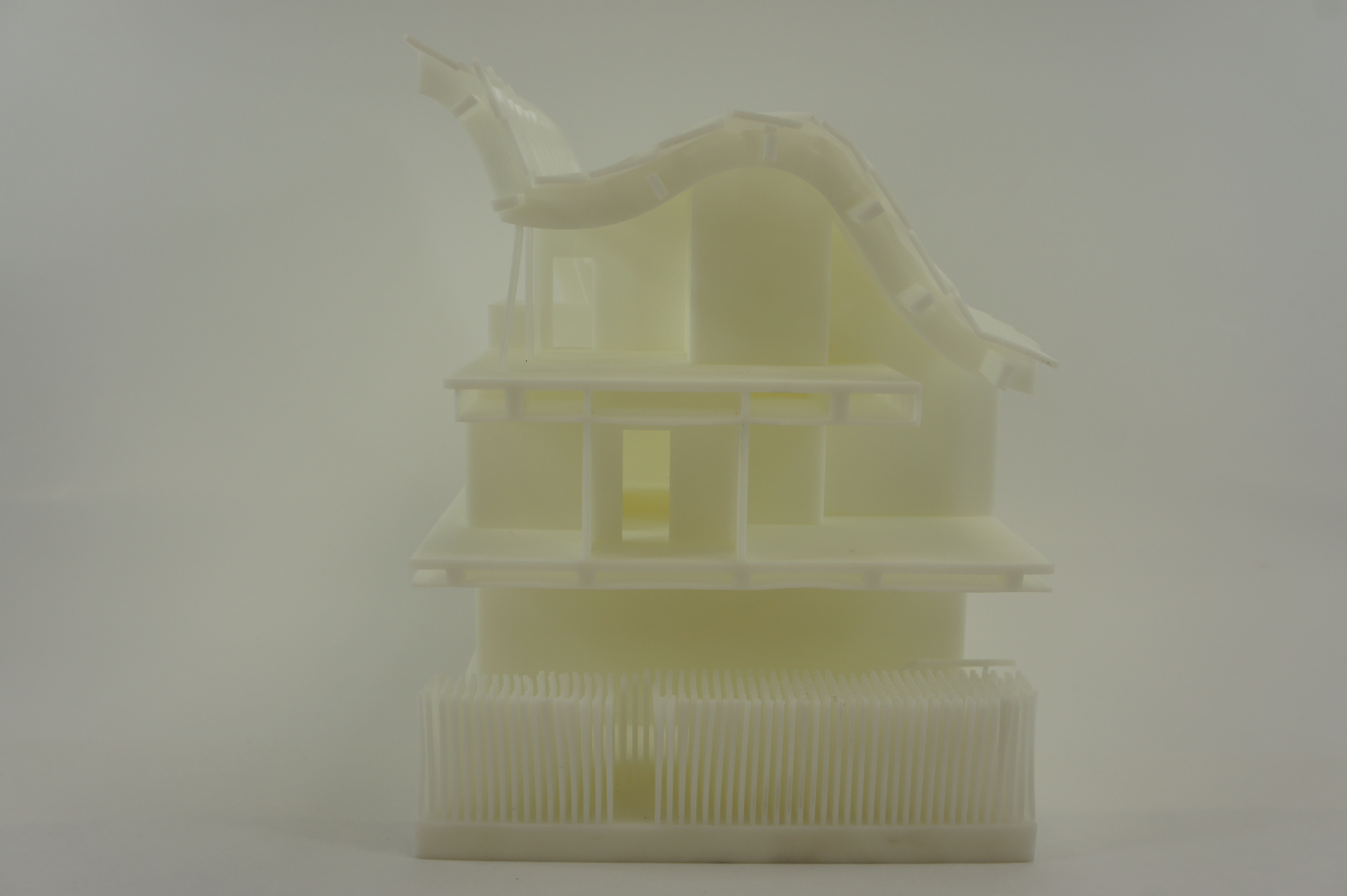 3D Print split China house side 3