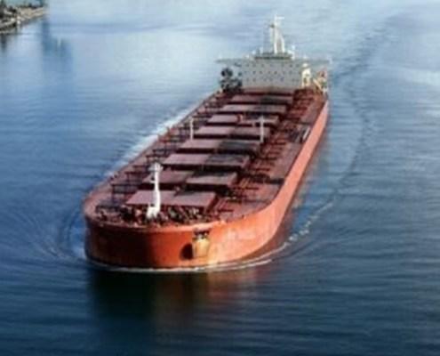 L'immagine evidenzia una nave cargo in navigazione a rappresentare il trasporto delle merci non liquide che sono rappresentate dall'indice oggetto dell'argomento e cioè il Baltic Dry Index che registra l'andamento dei costi legati ai noli proprio di questo tipo di navi.