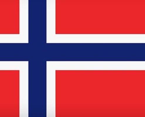 L'immagine evidenzia la bandiera norvegese che nel caso specifico rappresenta il mercato azionario più forte in Europa al 20 aprile 2018.