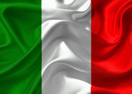 The picture highlights the italian flag to represent BTP 10yr italian government bond